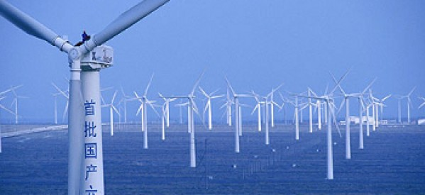China's wind power output surge